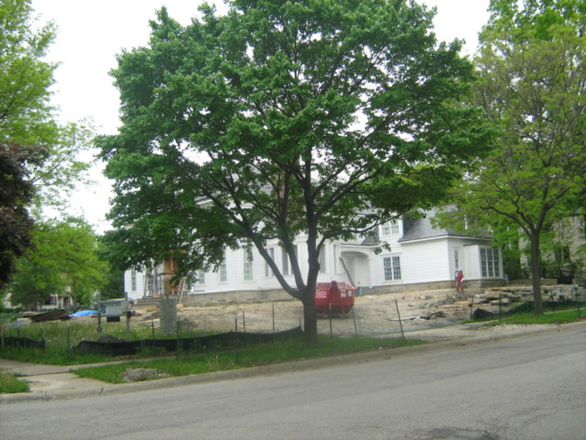 As often seen in Hinsdale, a home under construction or being remodeled