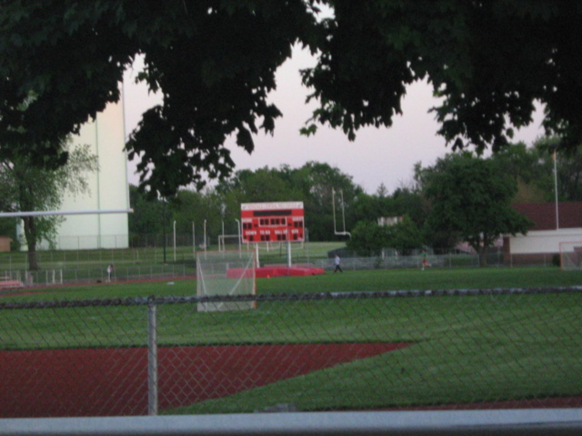 Hinsdale Central High School's athletic field
