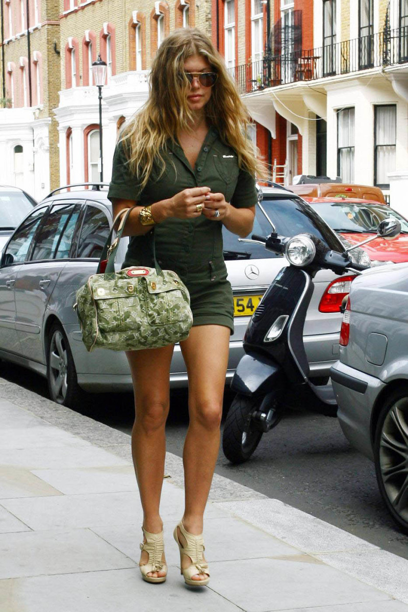 Fergie in high heels out running errands
