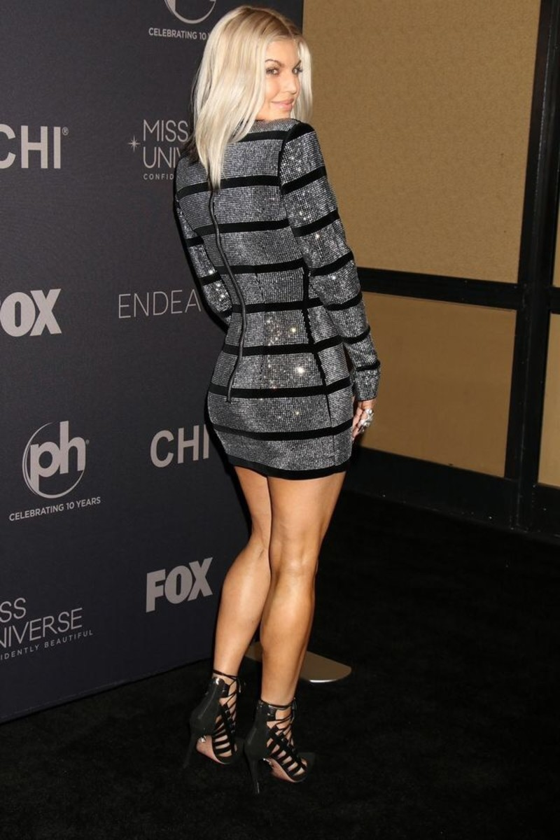 Fergie Stunning Style and Physical Beauty in Fashionable Body Con Outfits and High Heels