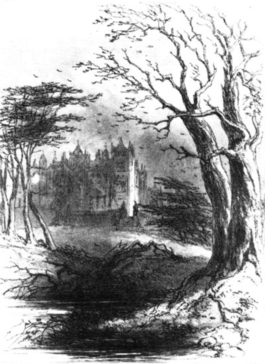 Frontpiece of Bleak House, by Hablot Browne (Phiz).