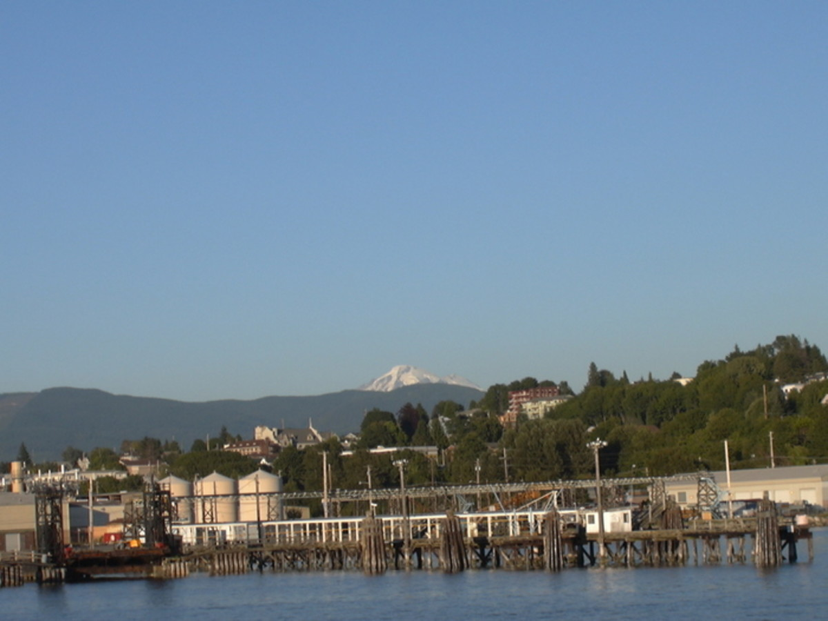Bellingham on a clear day and Mt. Baker in the distance