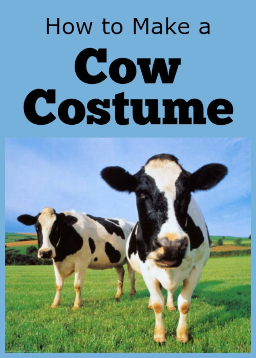 Holstein Cows Poster  sc 1 st  HubPages & How to Make a Cow Costume | HubPages