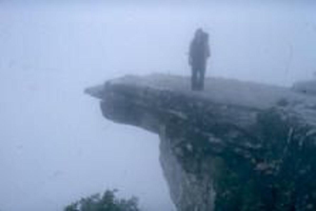 Foggy McAfee Knob on the Appalachian Trail