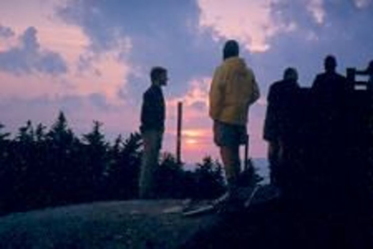 Instead of pressing on, a group of us decided to spend the rest of a beautiful afternoon, evening and night on the summit of mountain on the Appalachian Trail in Vermont.