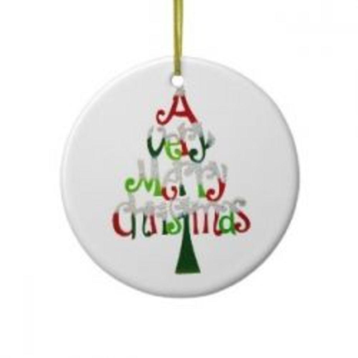 A Very Merry Christmas Ornament