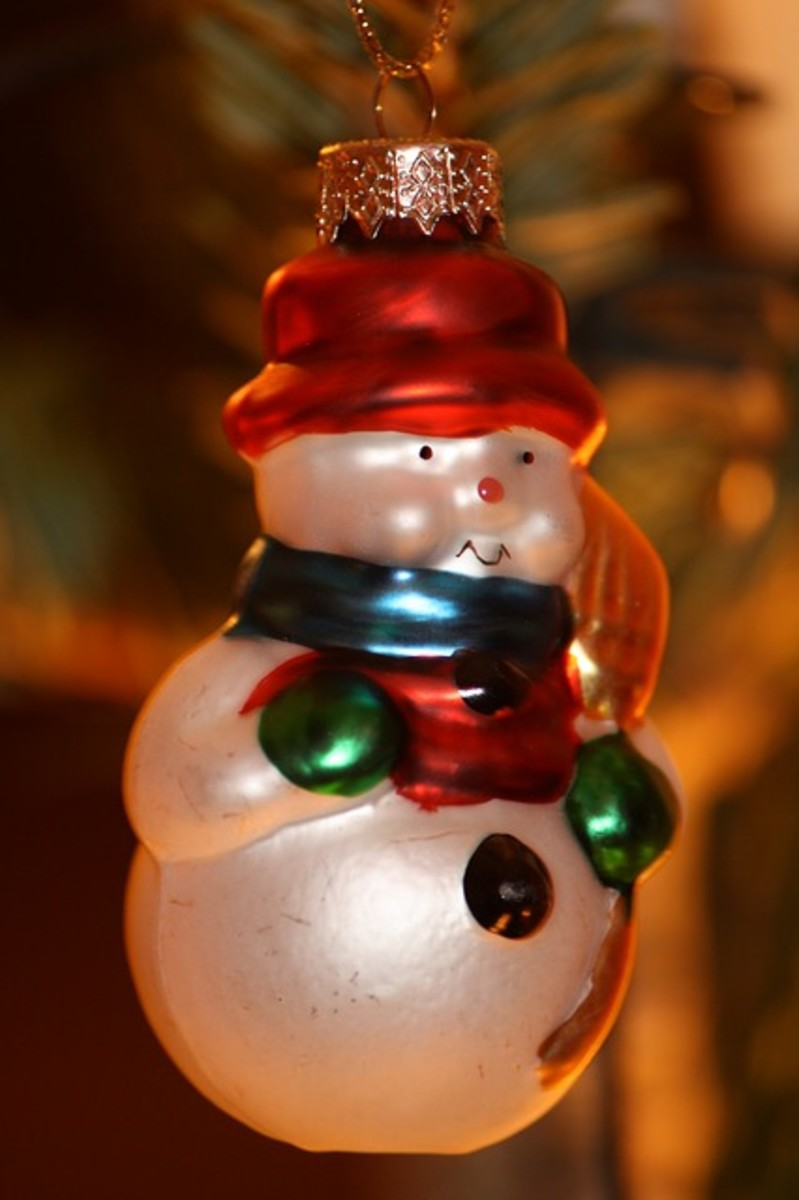 Snowman Christmas Ornament - this is a classic ornament for a Christmas tree, but I swear they get cuter every year!