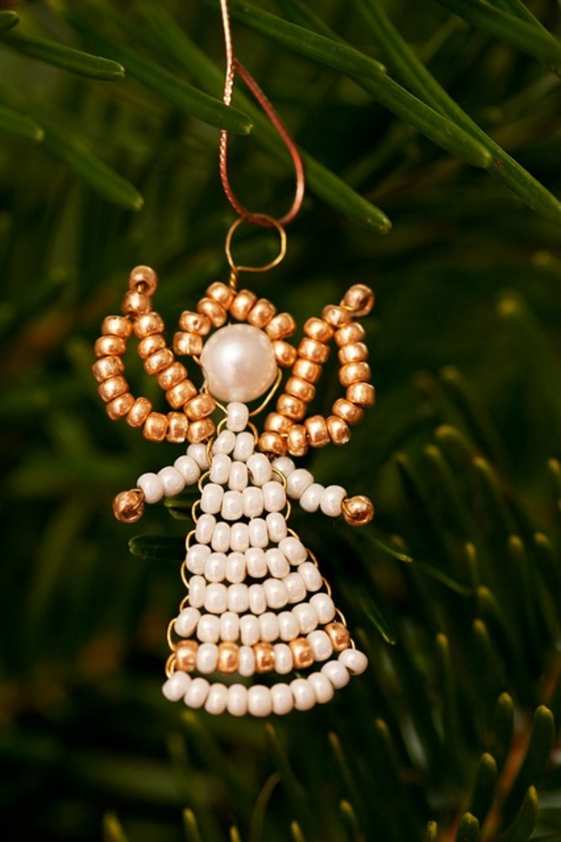Beaded Angel Christmas Ornaments - angels and Christmas go hand in hand and there are a few different ways you can make your own angel ornaments.