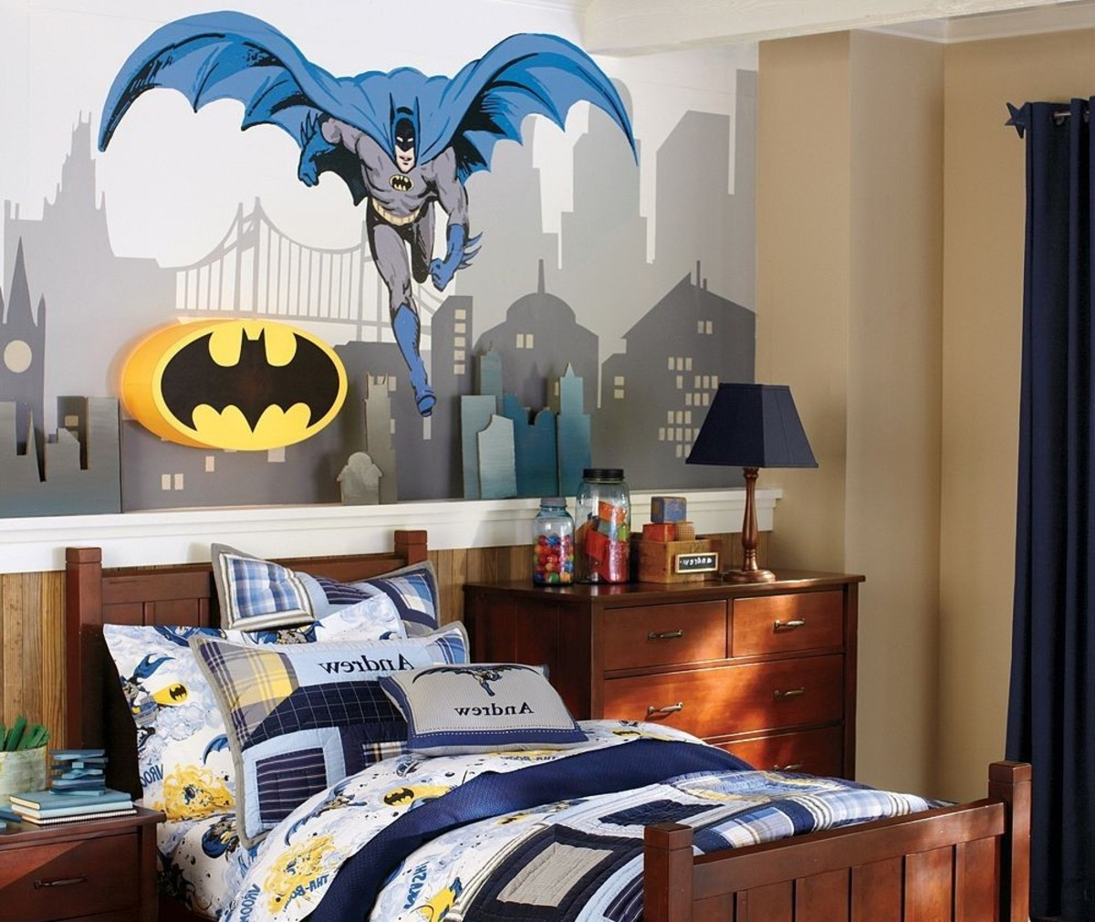 Youth Kids Bedroom Batman Dark Knight Twin Size Platform: How To Make A Batman Themed Bedroom
