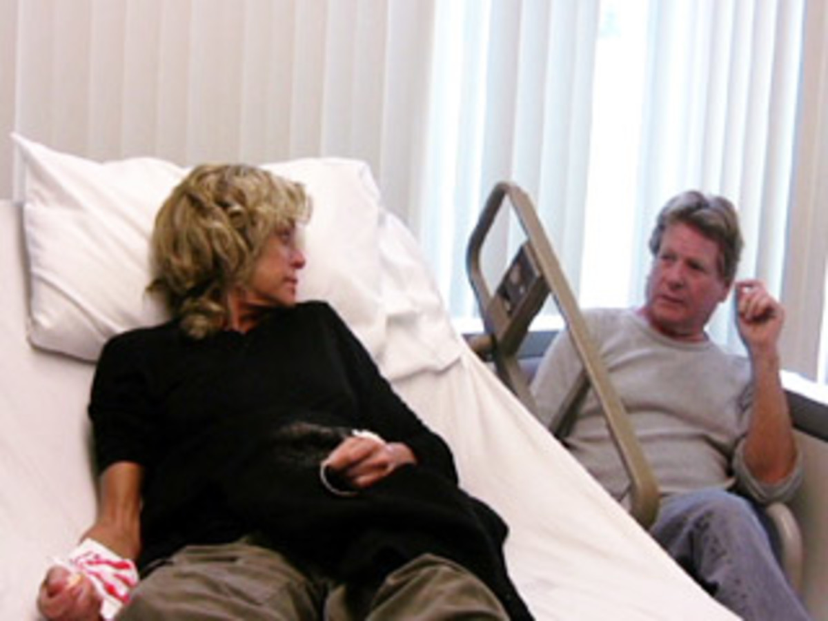 Farrah and Ryan in the hospital