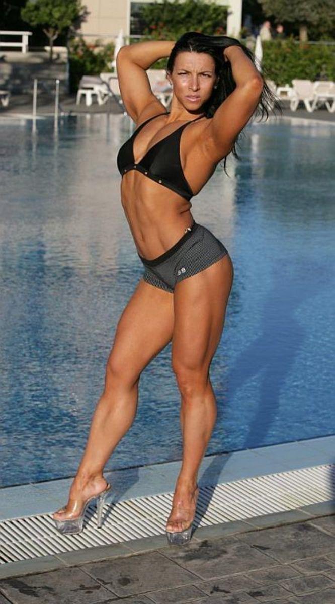 Russian female bodybuilder Olga Guryeva