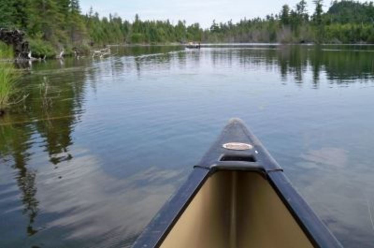 On Rose Lake, moving on towards the short portage to Rat Lake