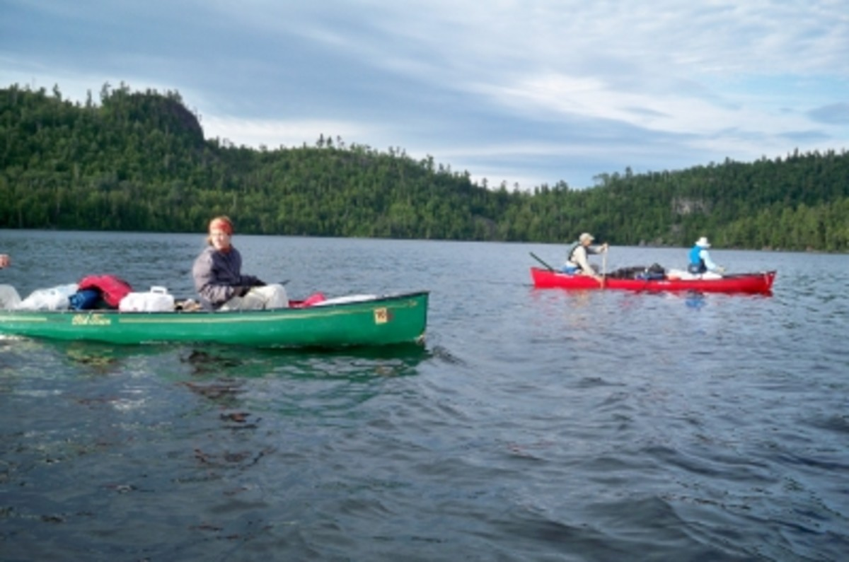 We had three boats and six people in our group. The maximum allowed per group is nine people and four boats.
