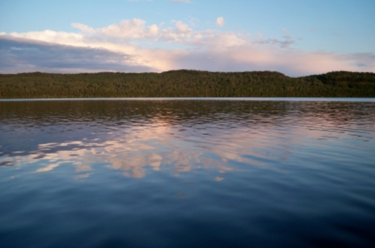 The lakes were often calm in the morning and evening, but the wind usually picked up by midday.
