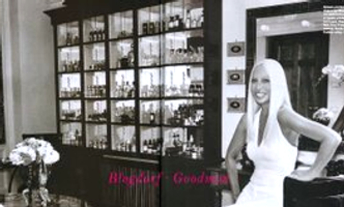 Donatella's expansive perfume collection