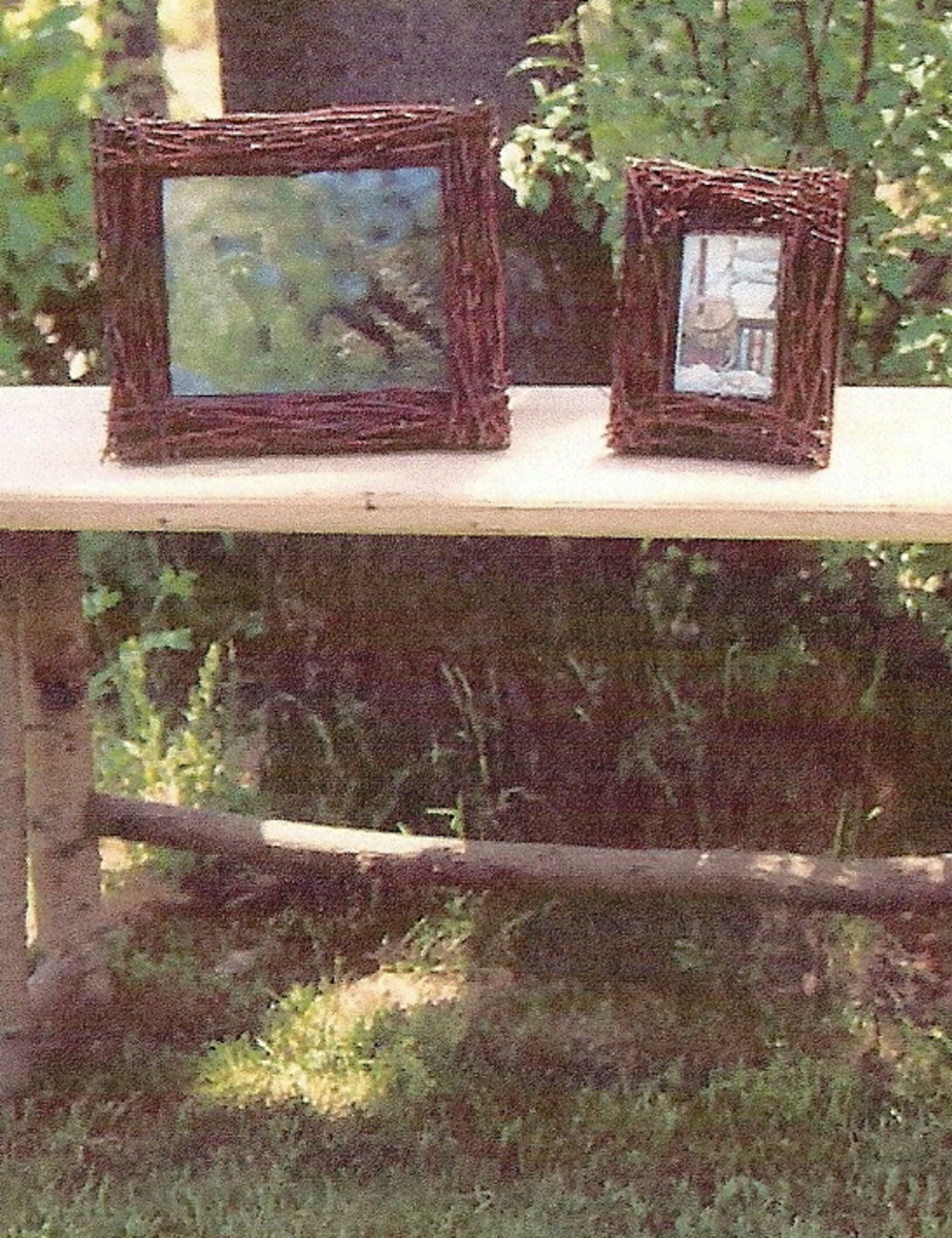 How To Make A Picture Frame Using Birch Bark Branches