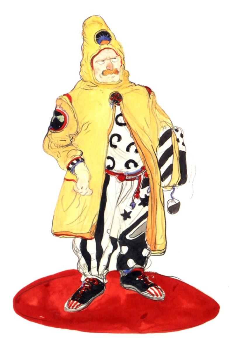 Cid Del Norte Marquez from Final Fantasy 6 as designed by Yoshitaka Amano