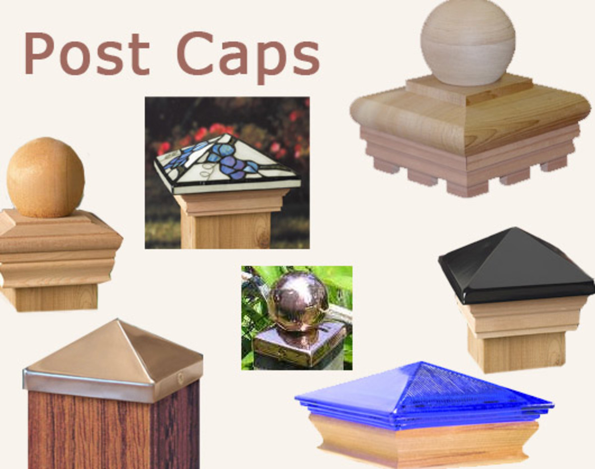 fence post toppers deck and fence post caps hubpages 3725