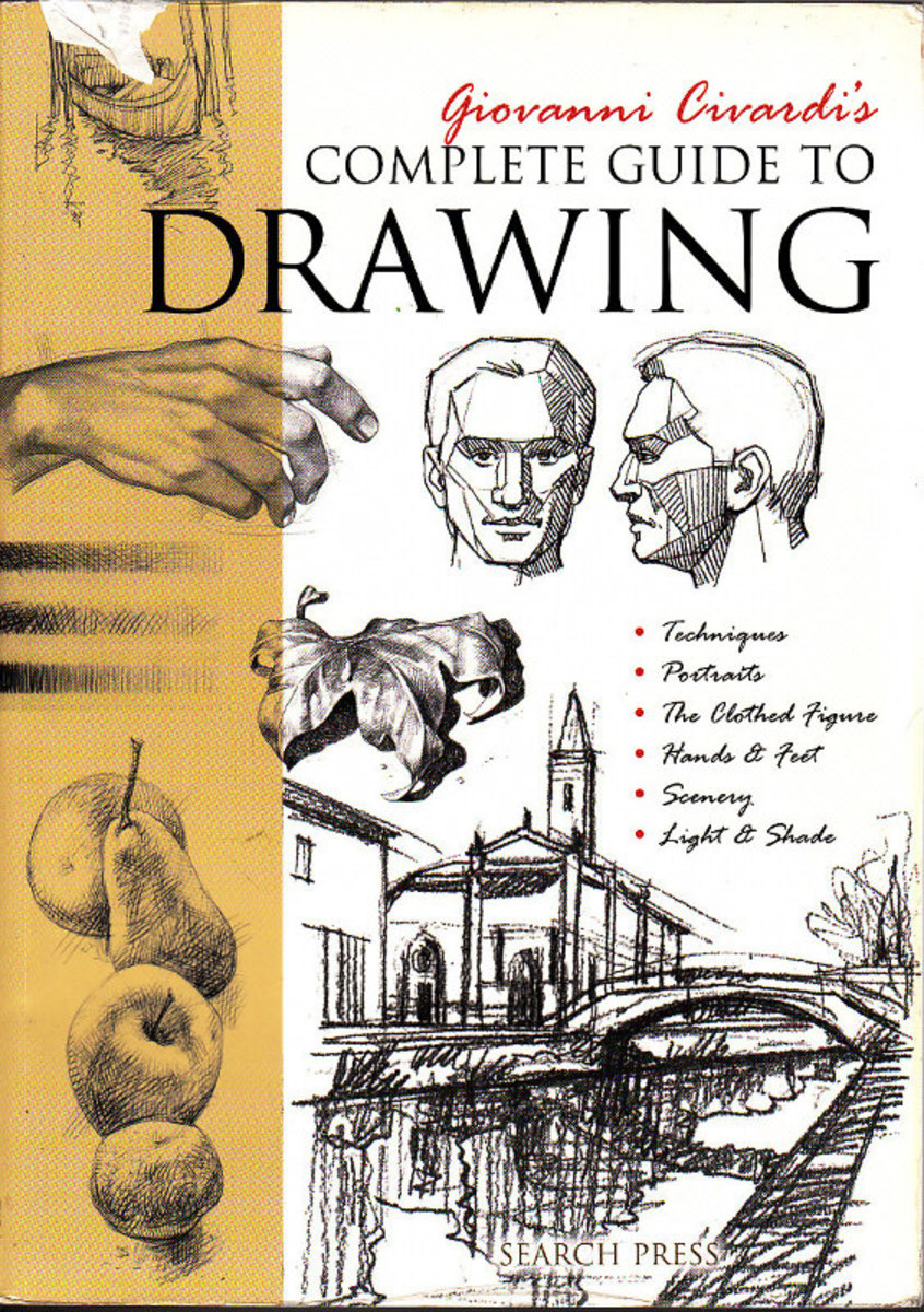 Complete Guide to Drawing by Giovanni Civardi cover with examples of Civardi's drawings.