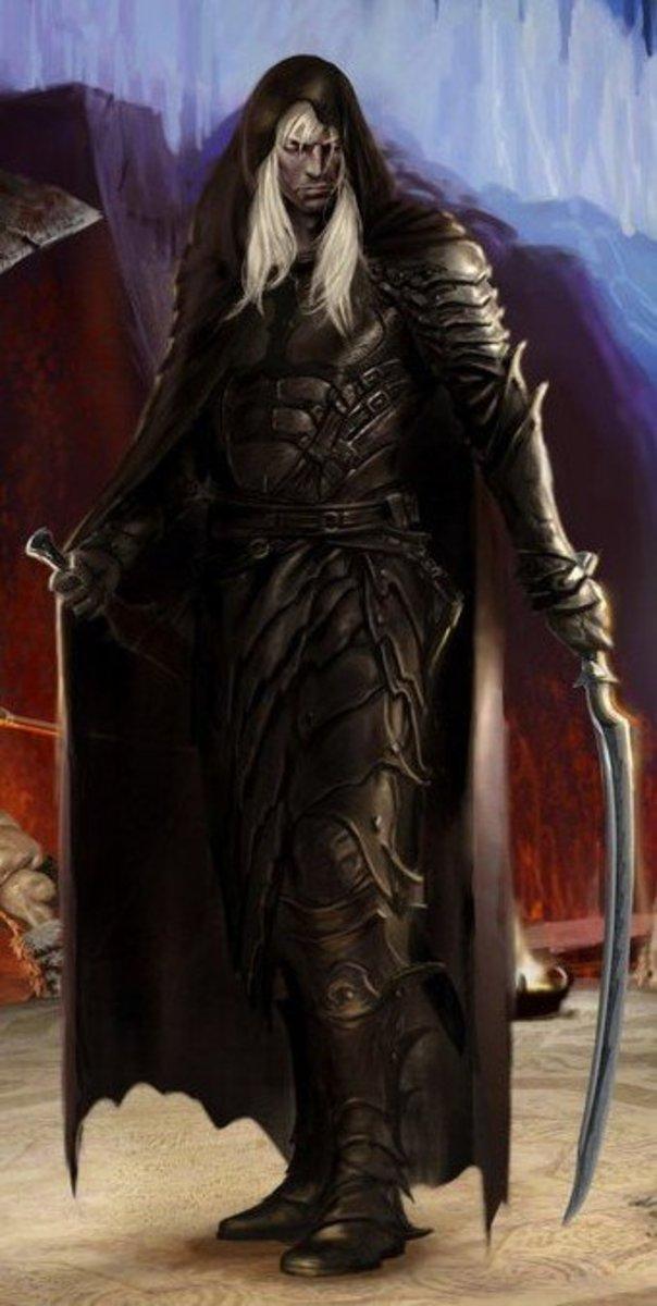 Drizzt the dark elf of R. A. Salvatore's stories