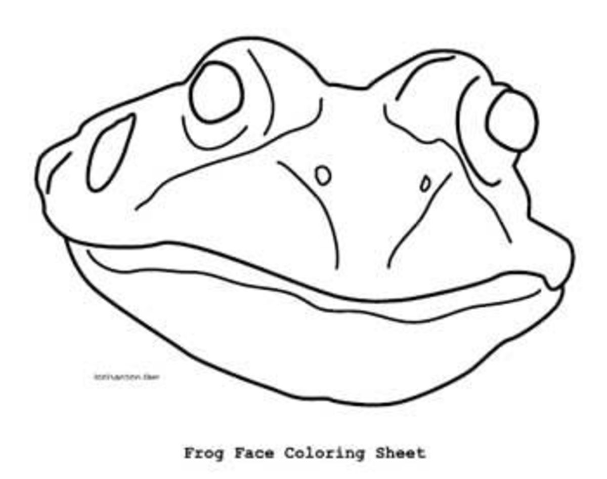 Frog coloring page mask