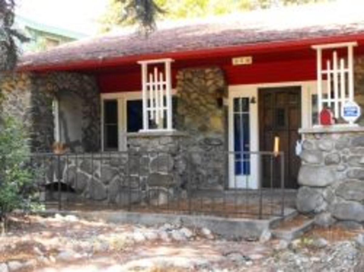 river rock bungalow