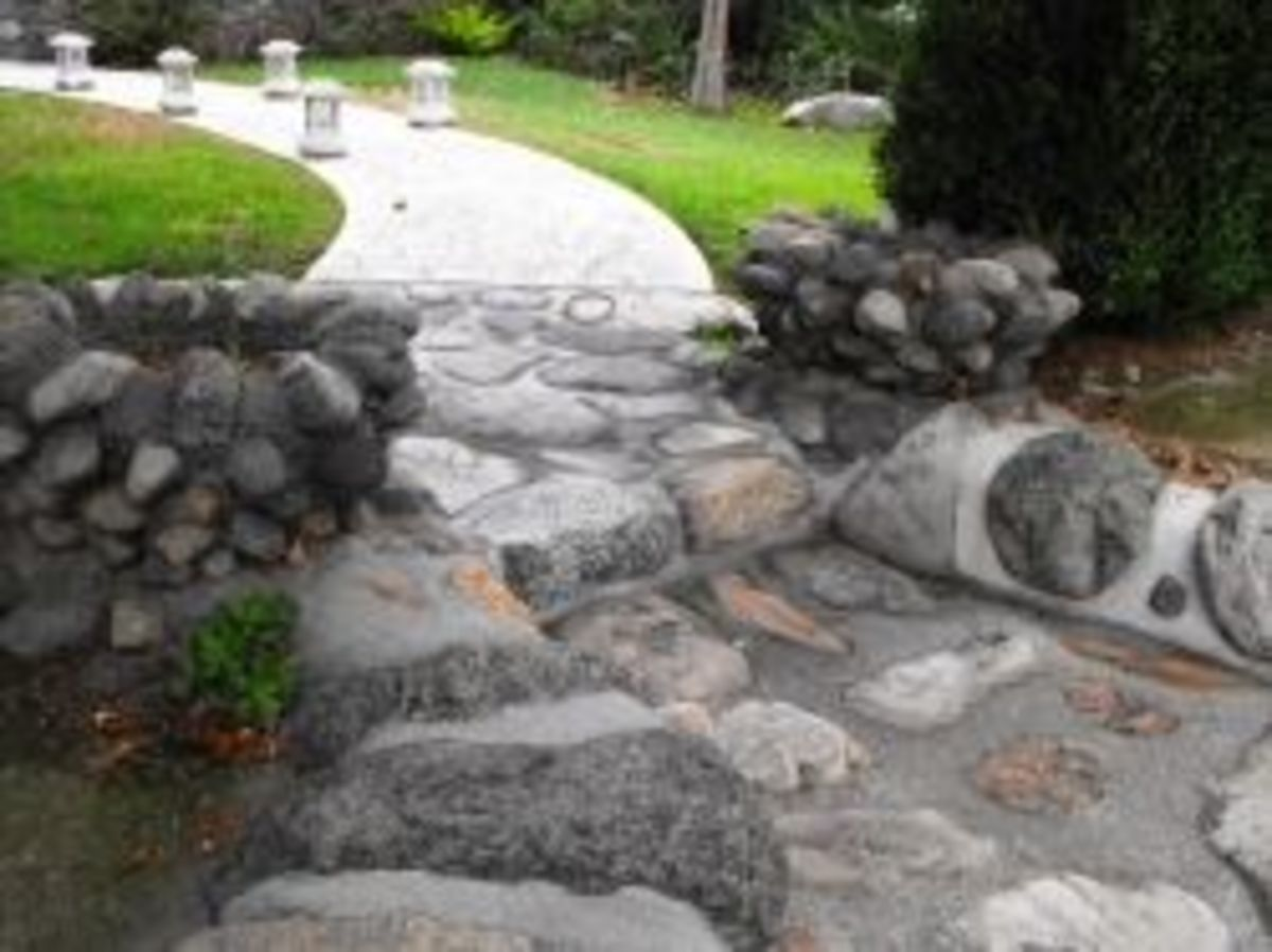 Original Stone walkway built by Stys