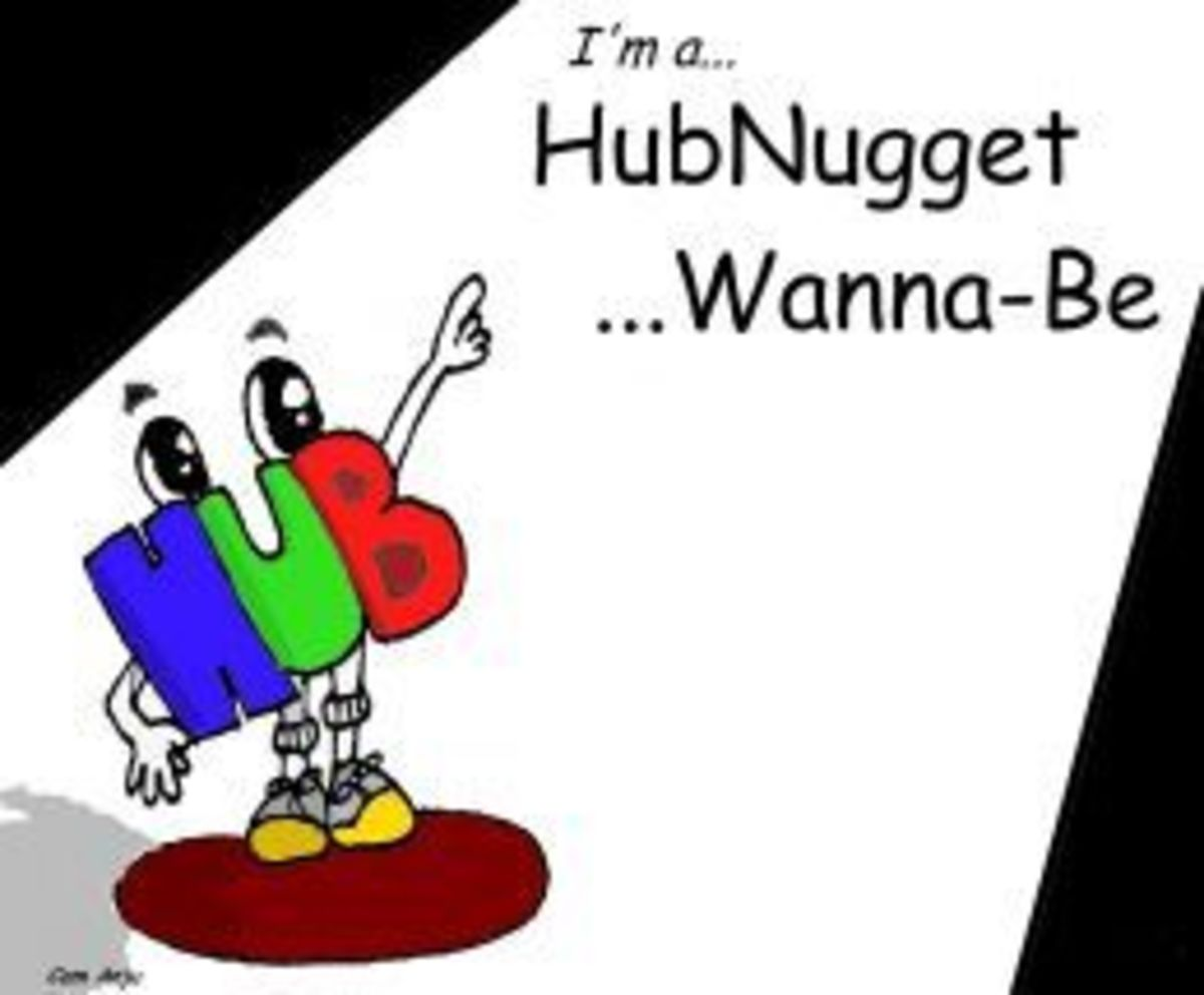 This Hub was nominated to be a HubNugget Wanna Be, Thanks for voting!!