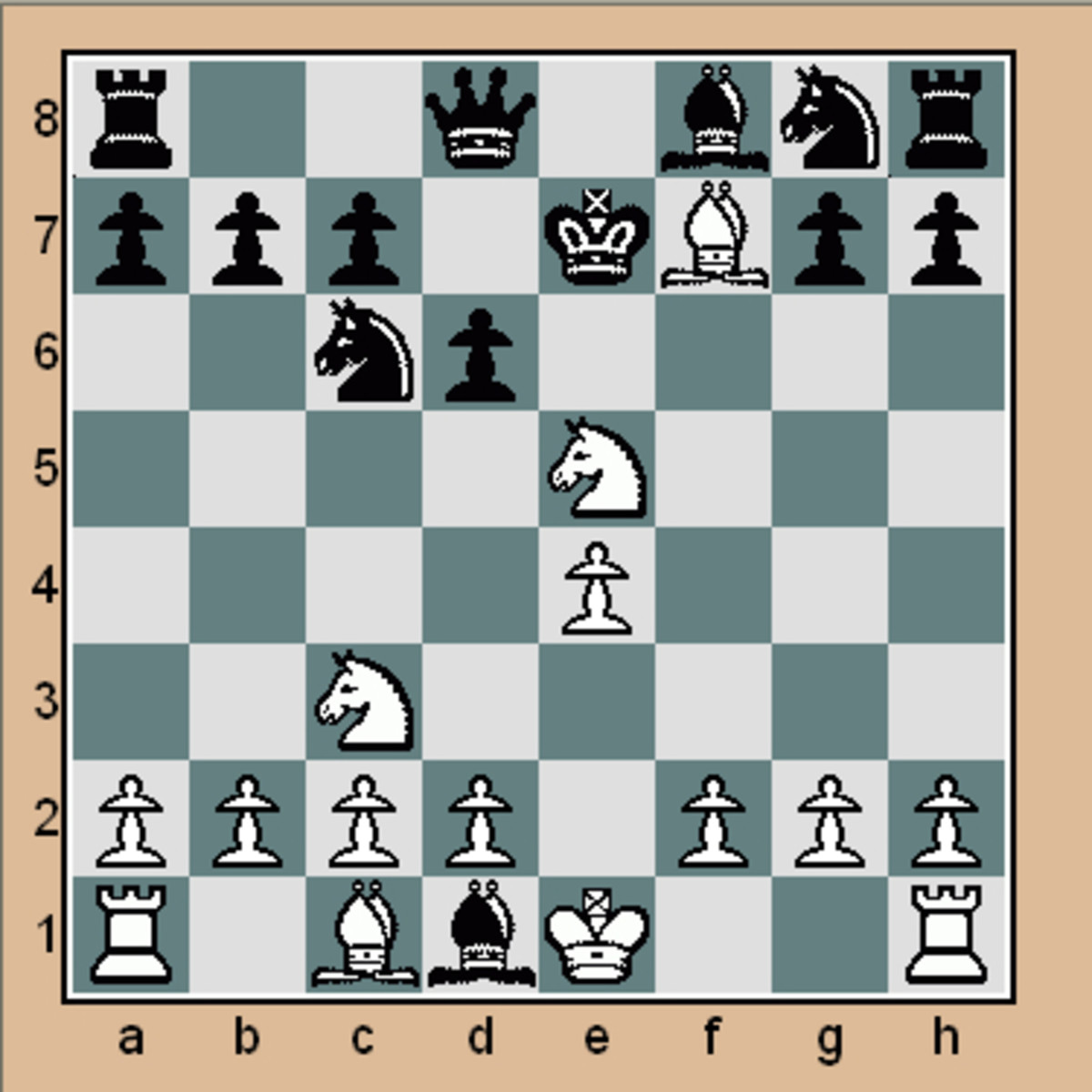 Mate in 1 chess puzzle #2 (Click to enlarge)