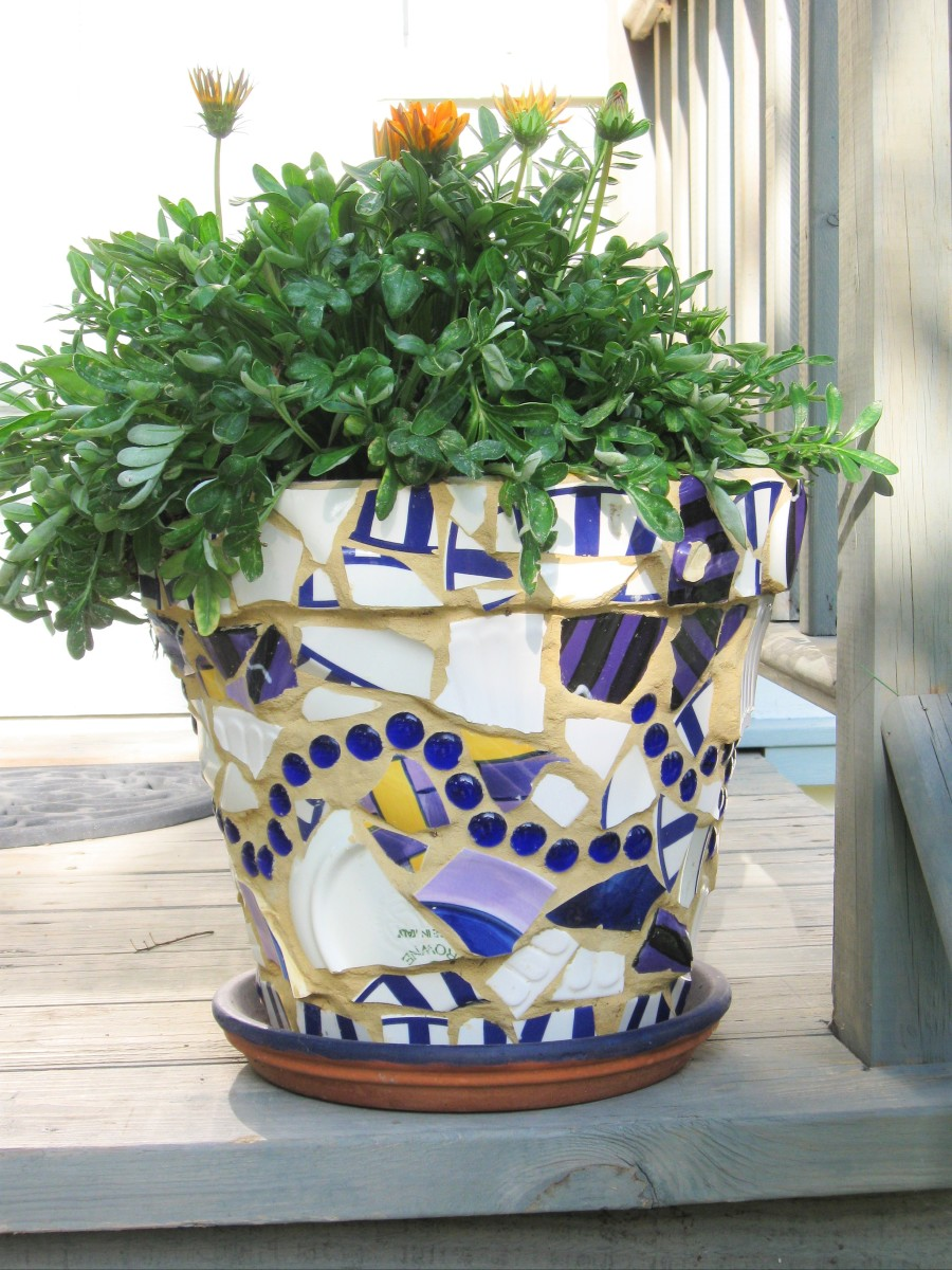 making beautiful mosaic flower pots hubpages