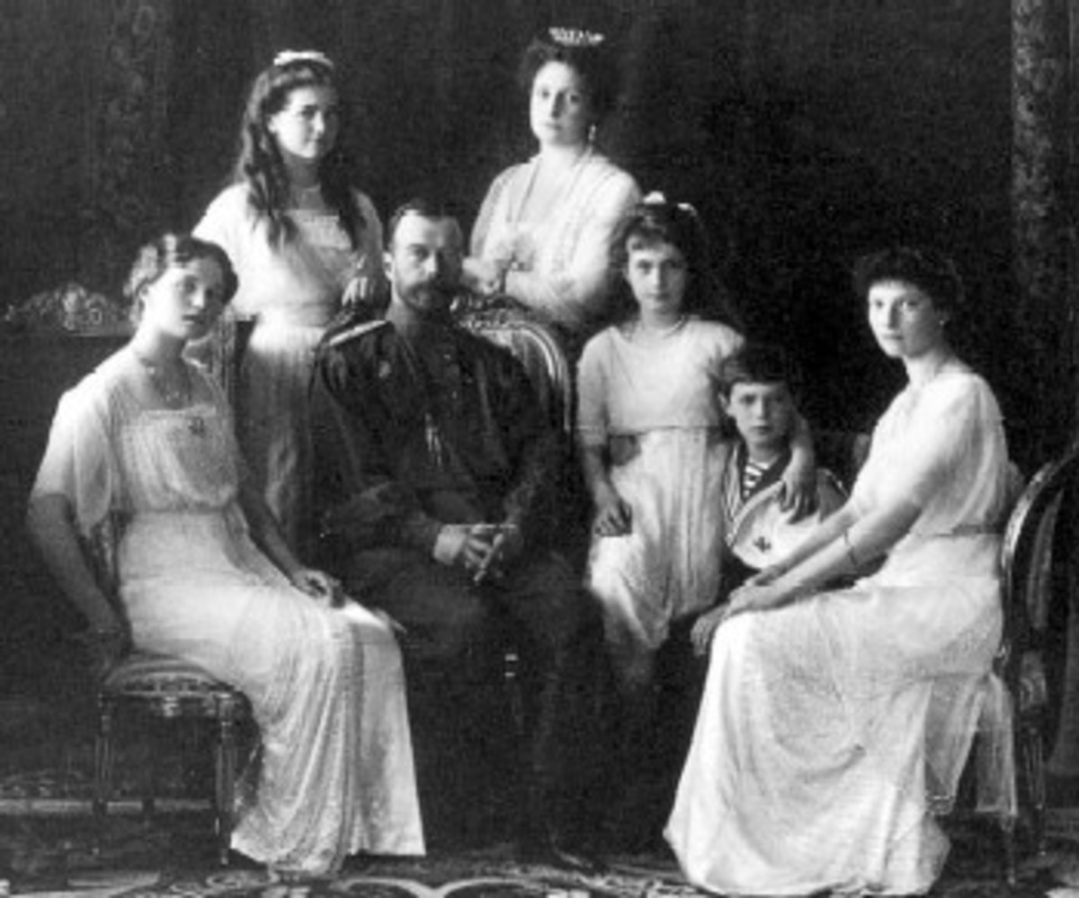 FAMILY OF CZAR NICHOLAS MURDERED AT PHONY PHOTO SESSION