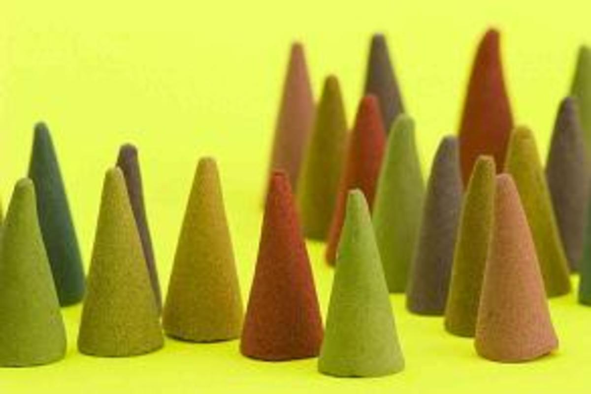 You can make incense in the shape of cones too.