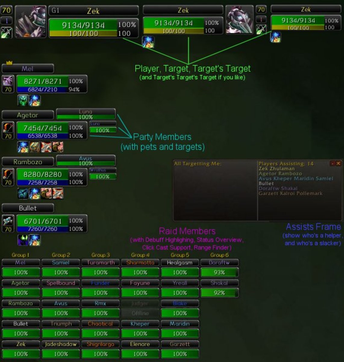 World of Warcraft-Basic UI Addons for WoW Characters
