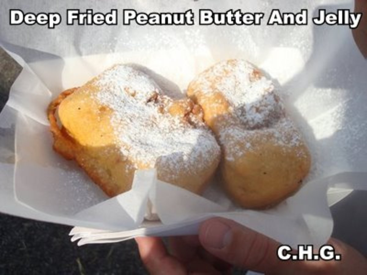 Deep Fried Peanut Butter And Jelly Sandwiches