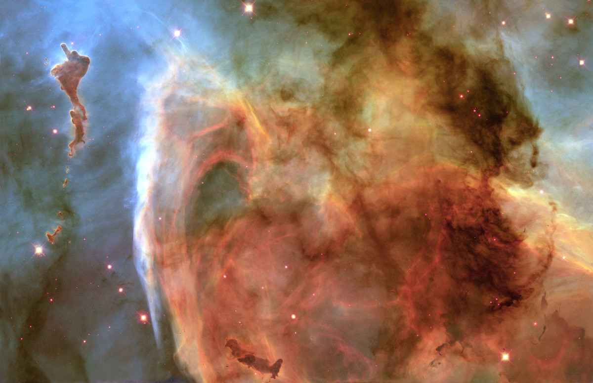 Keyhole Nebula, Hubble telescope, NASA