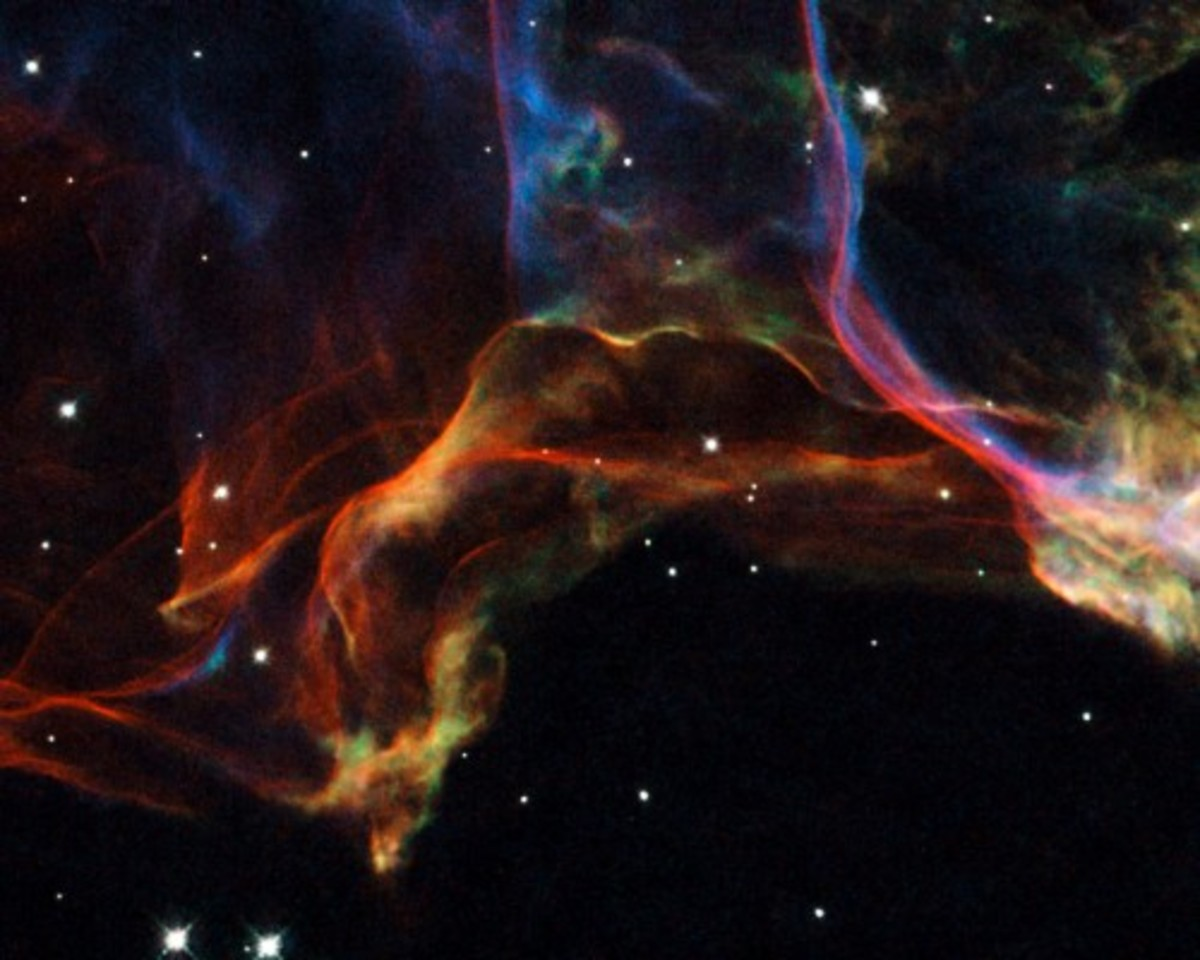 Veil Nebula, NASA; Hubble