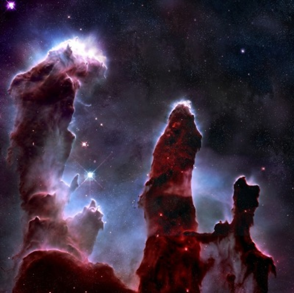 Eagle Nebula, NASA, Hubble, Pillars of creation