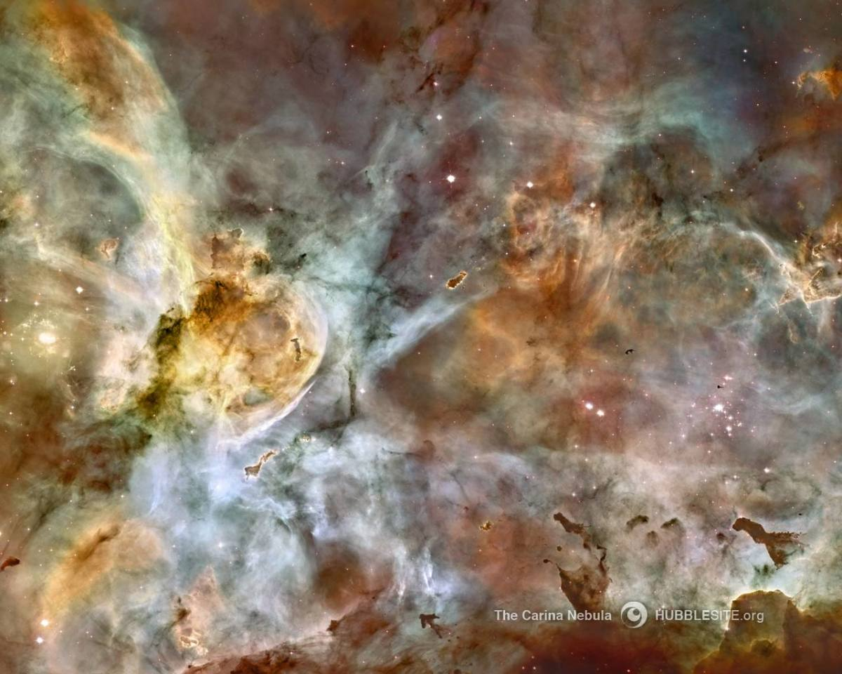 Carina Nebula, NASA, Hubble