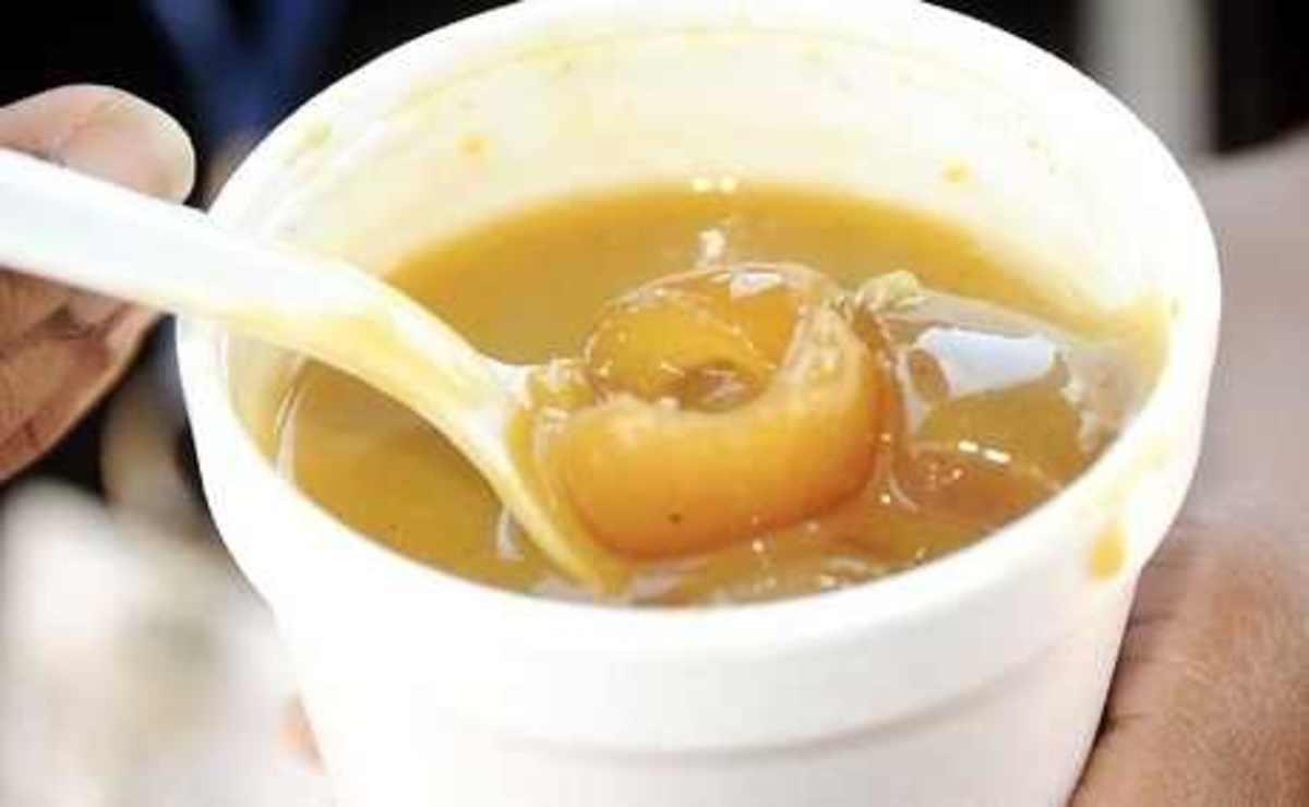 cow skin soup