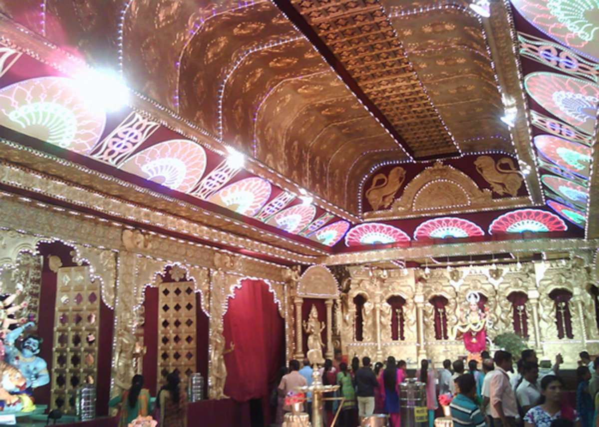 Decorated Auditorium for Navaratri Festival