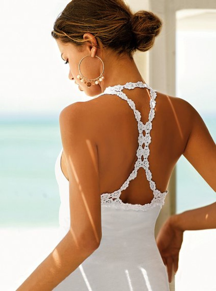 crochet racerback with built in bra by Victoria's Secret