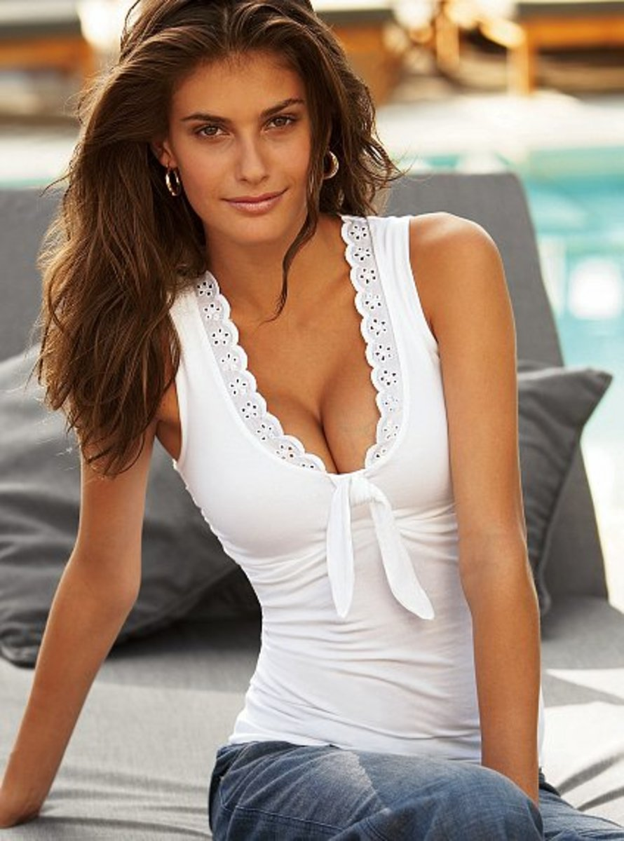 knot front with built in bra by Victoria's Secret