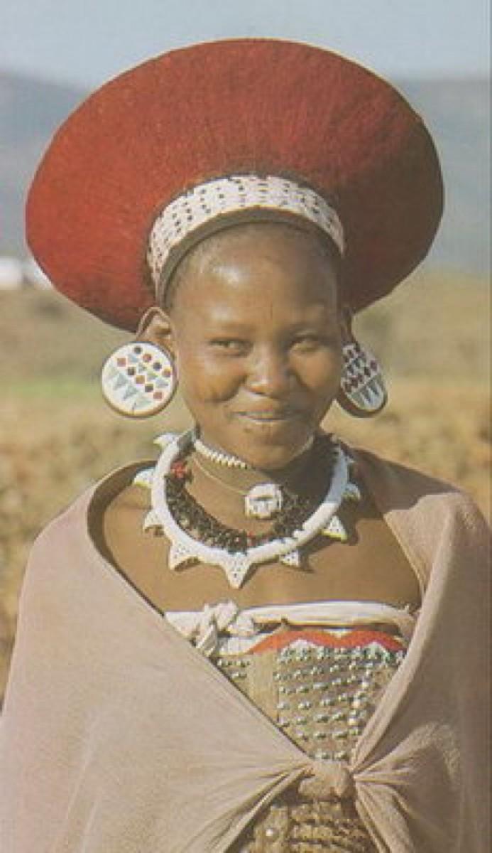 Zulu Woman In Cultural Dress