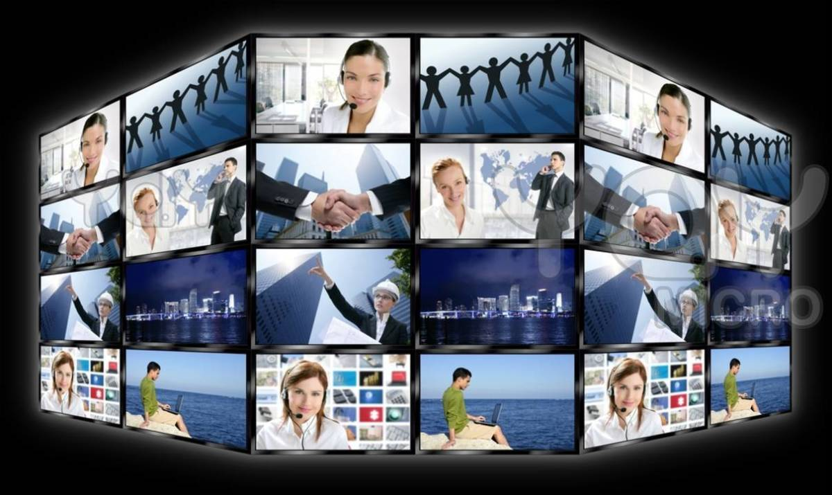 Black frame television multiple screen wall, wherein you can search photos, view photos, buy photos and download photos; buy publishing images, website images, powerpoint images, blog images and print images