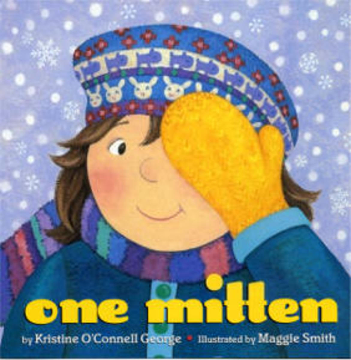 One Mitten is a rhyming book that describes the imaginative ways a child can play using a simple yellow mitten.