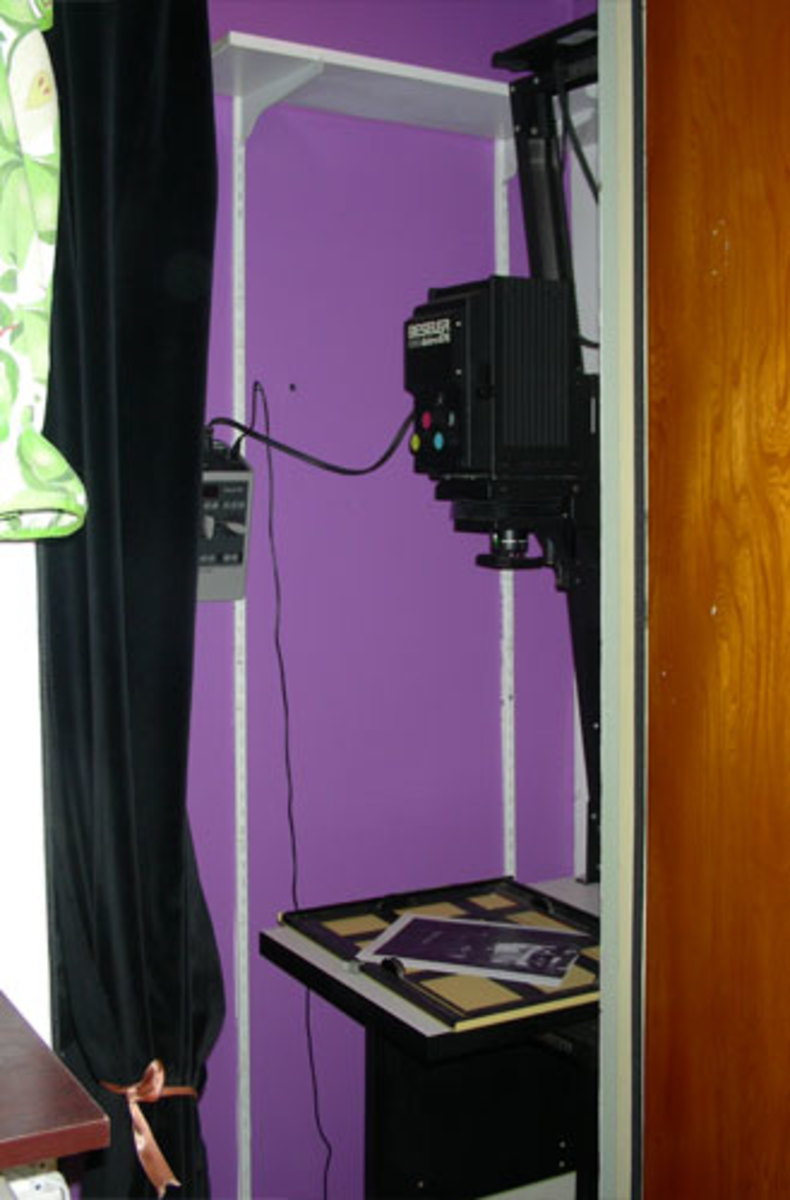 Darkroom in a closet