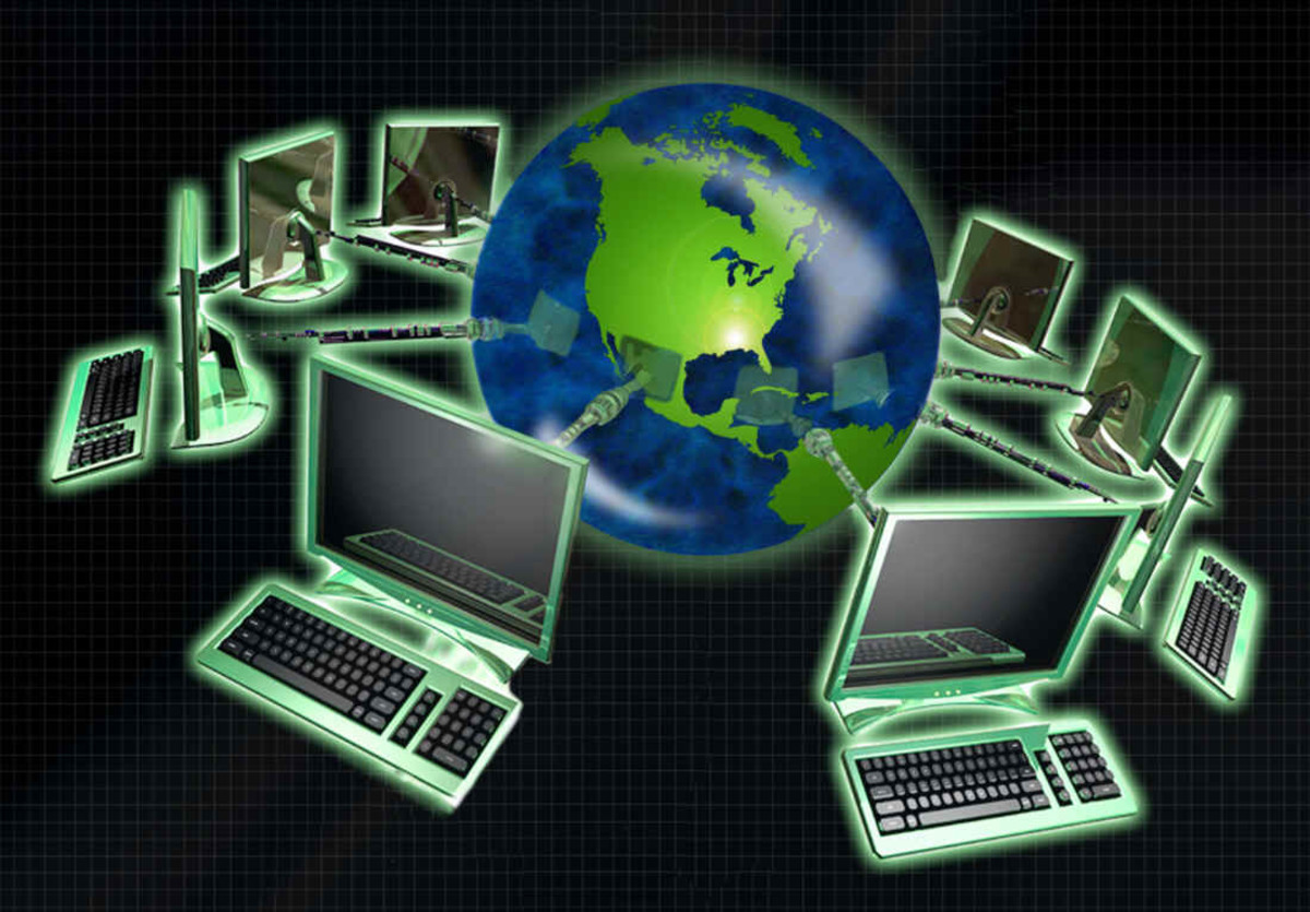 A World that is being Interconnected by the computers through the Web from all over the Globe from different countries at the same time, and all the time