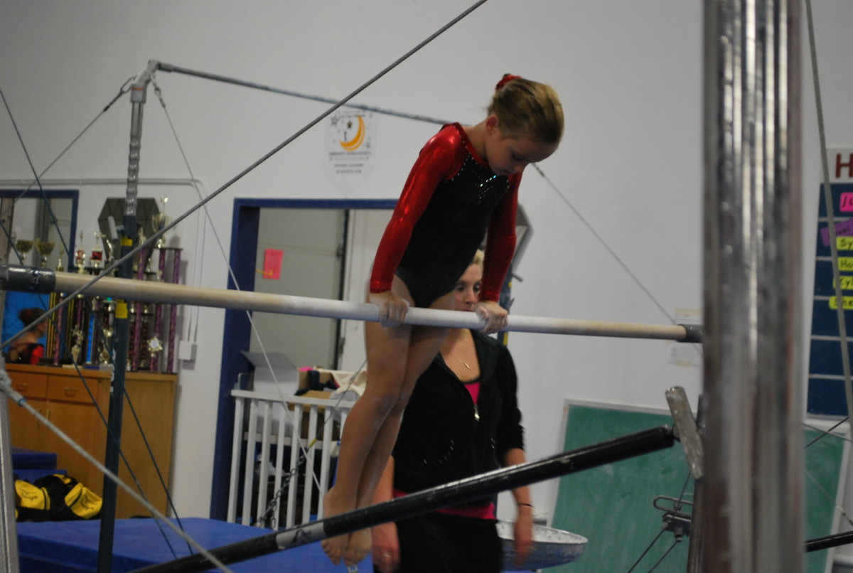 Bars routine for Level 4 gymnastics
