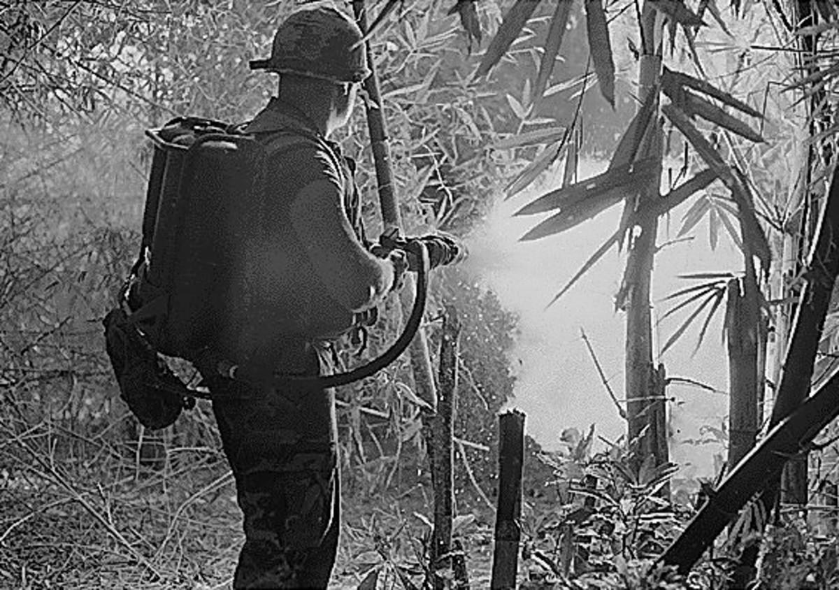 Vietnam-war-photos-flamethrower-in-danang