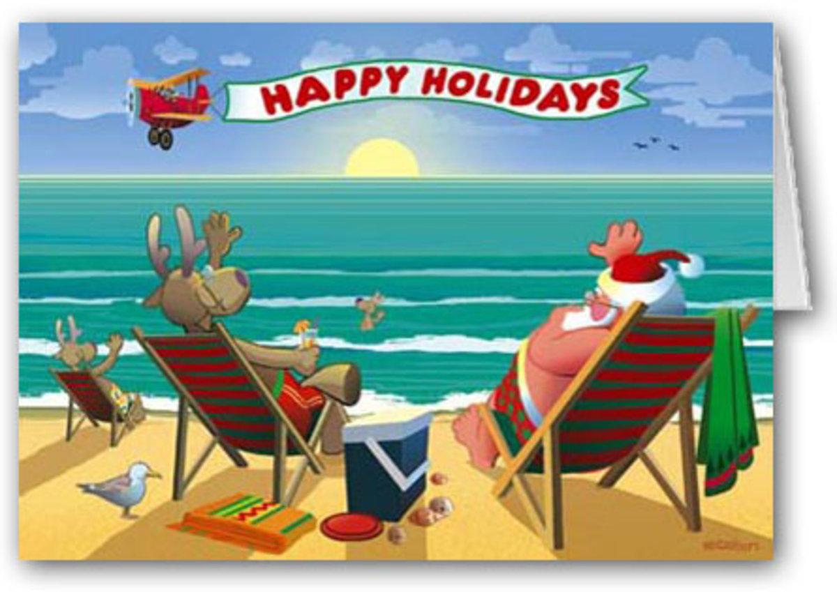free clipart santa on the beach - photo #17
